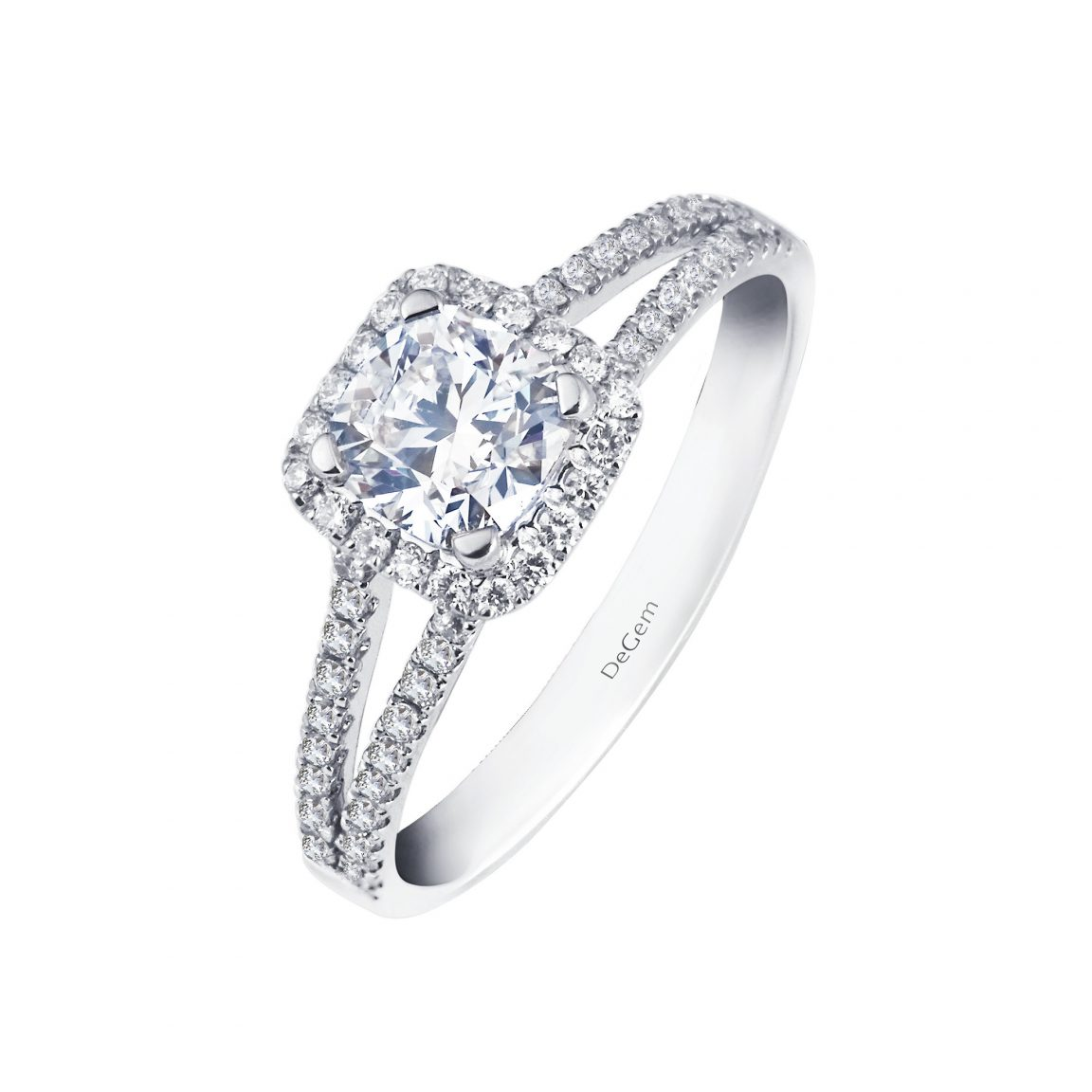 Forevermark Cushion Shape Diamond Ring