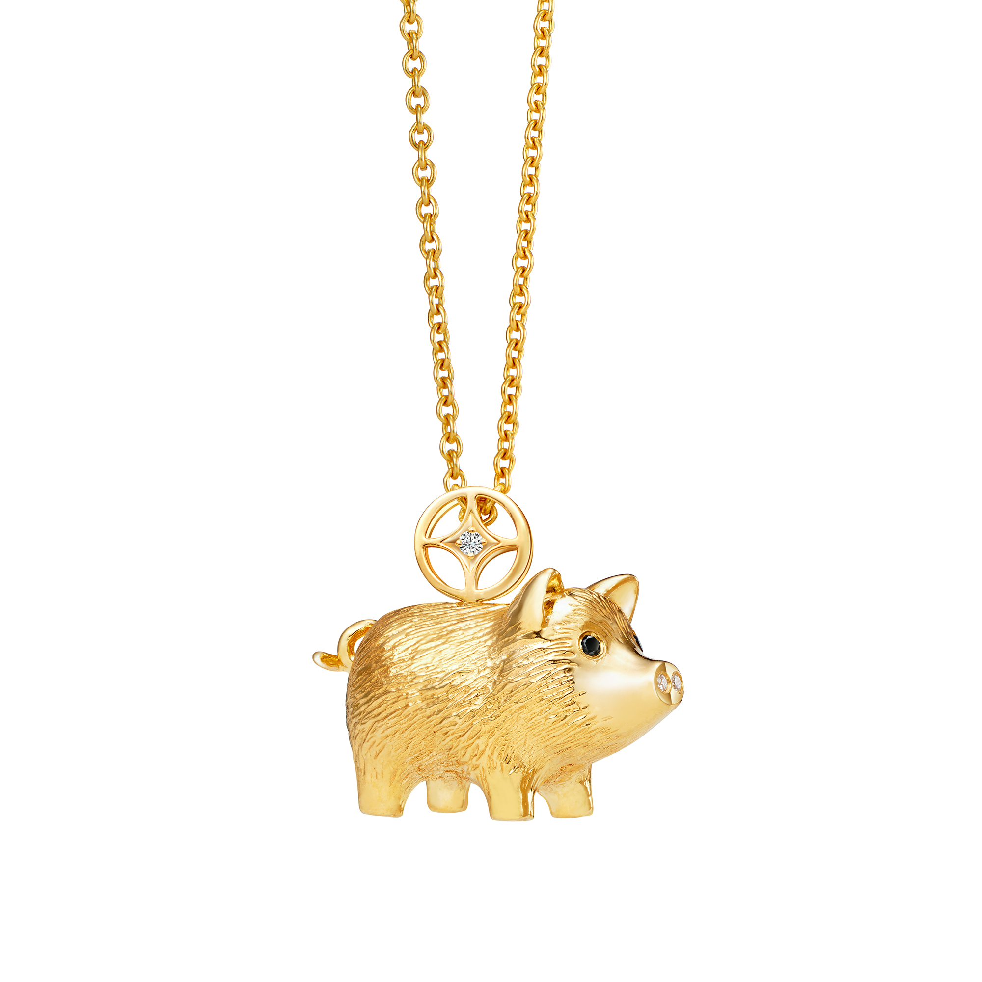 Fortune Boar Diamond Pendant