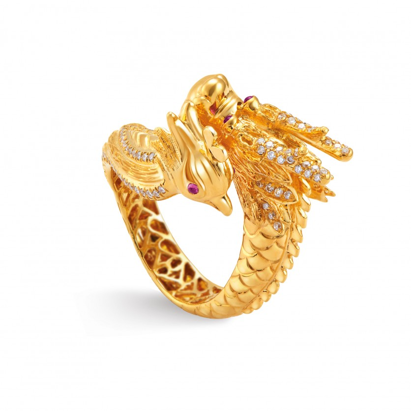 Dragon & Phoenix Ring