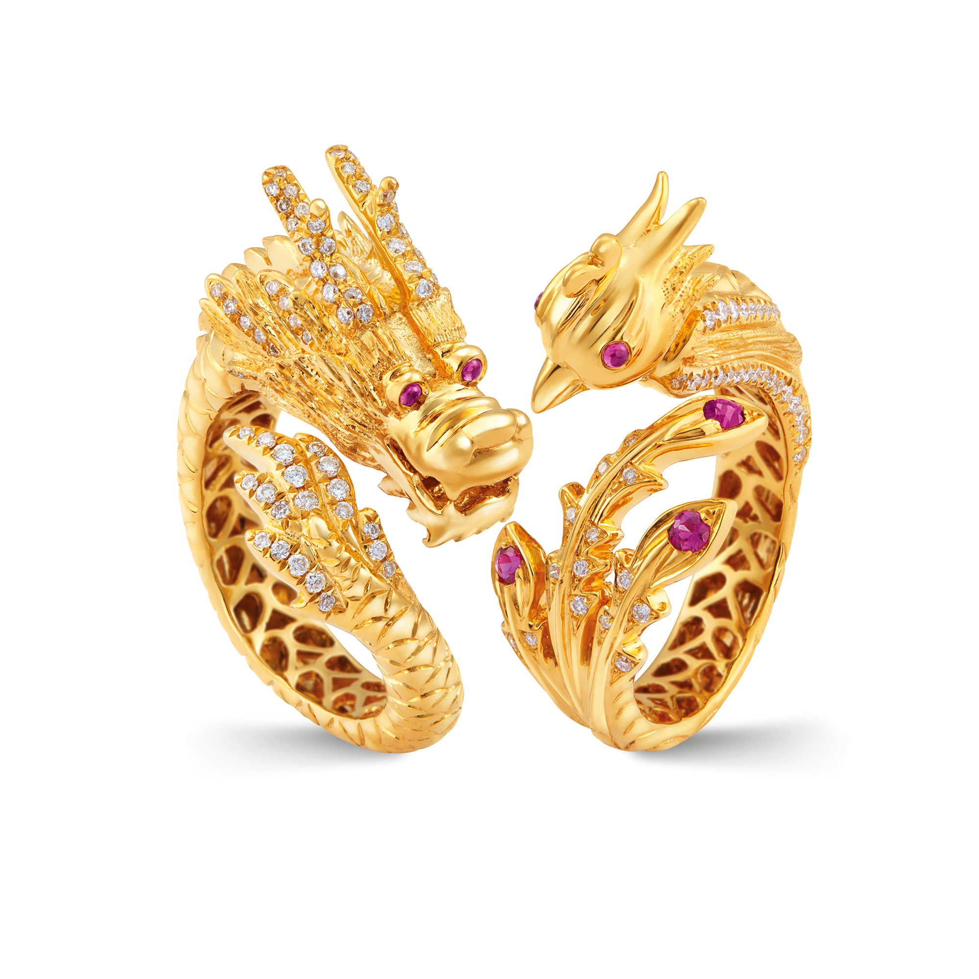 phoenix en us and ring fine fire catalog gold jewellery yellow opal diamonds rubies sapphires rings
