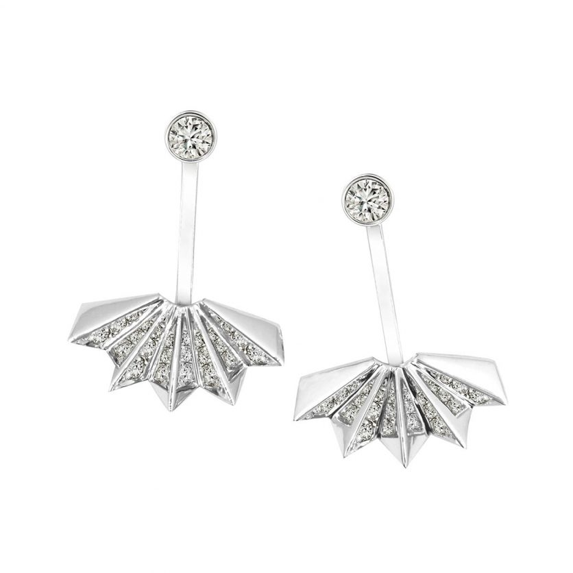 Soleluna AURY Folding Fan Drop Earrings
