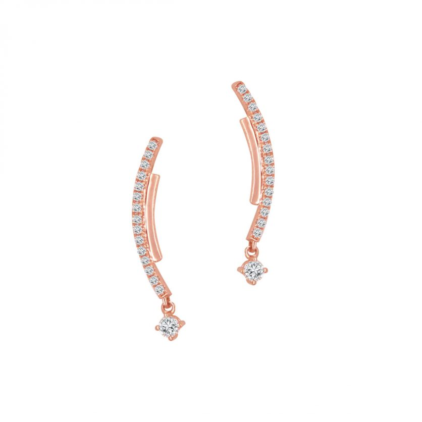 Soleluna AJYLE Dancing Wave Diamond Drop Earrings