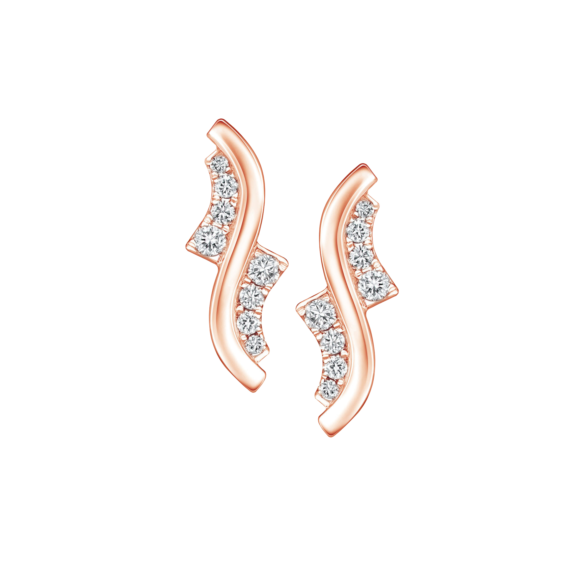 Soleluna AJYLE Dancing Wave Diamond Earrings