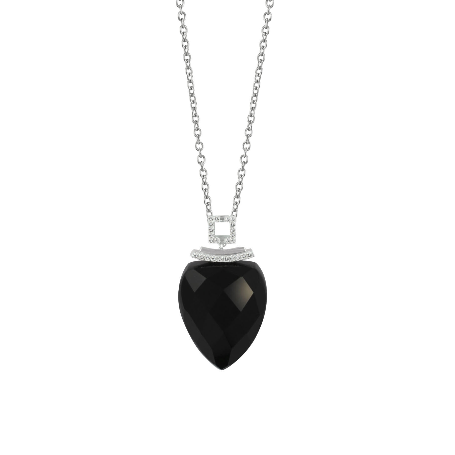 Soleluna AJYLE Harmony Onyx Diamond Necklace