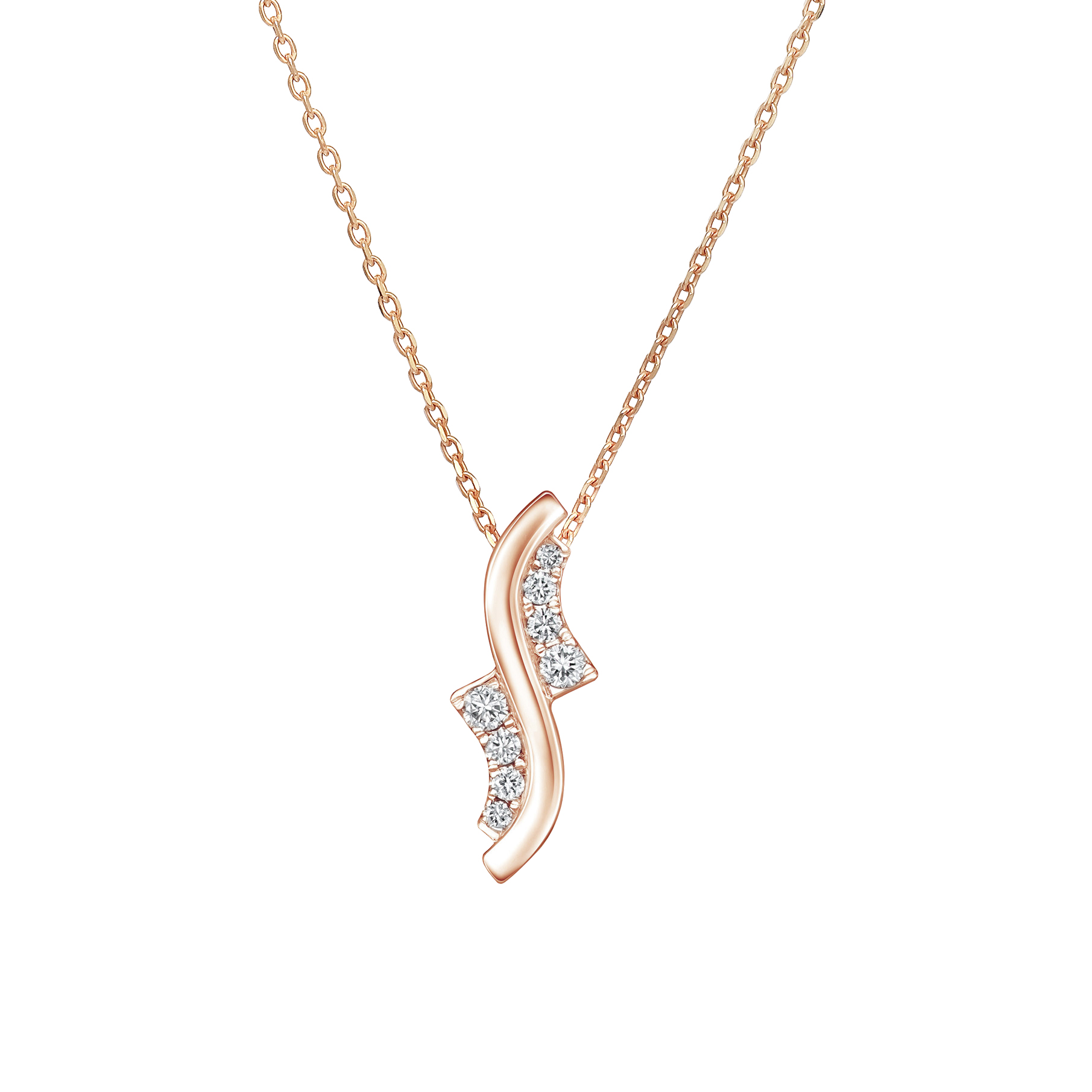 Soleluna AJYLE Dancing Wave Diamond Necklace
