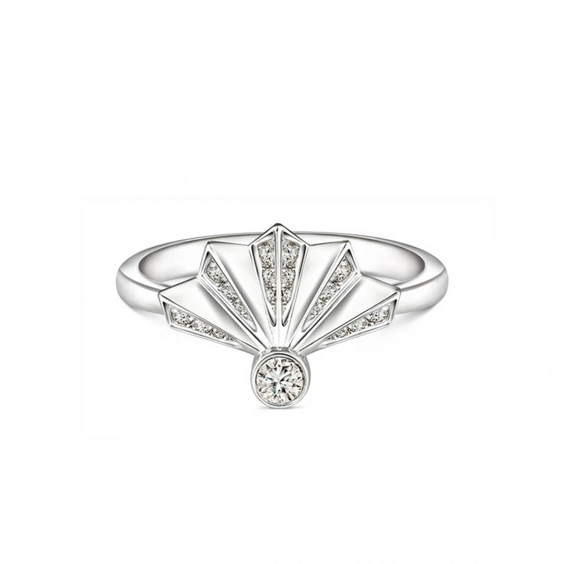Soleluna AURY Folding Fan Diamond Ring