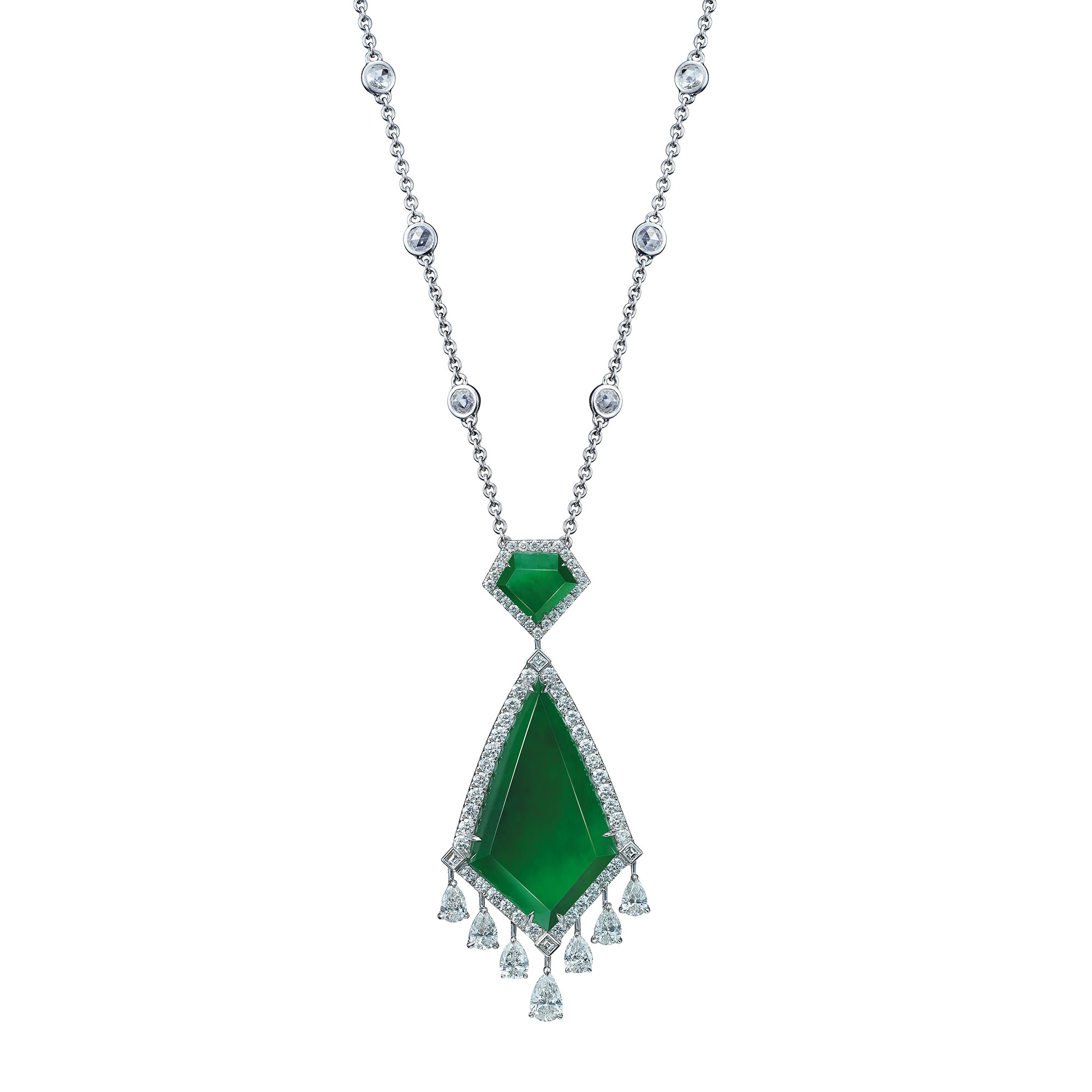 Opulent Jadeite Fan Necklace