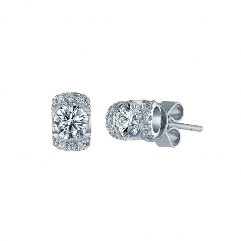 Roller Glam Diamond Earrings