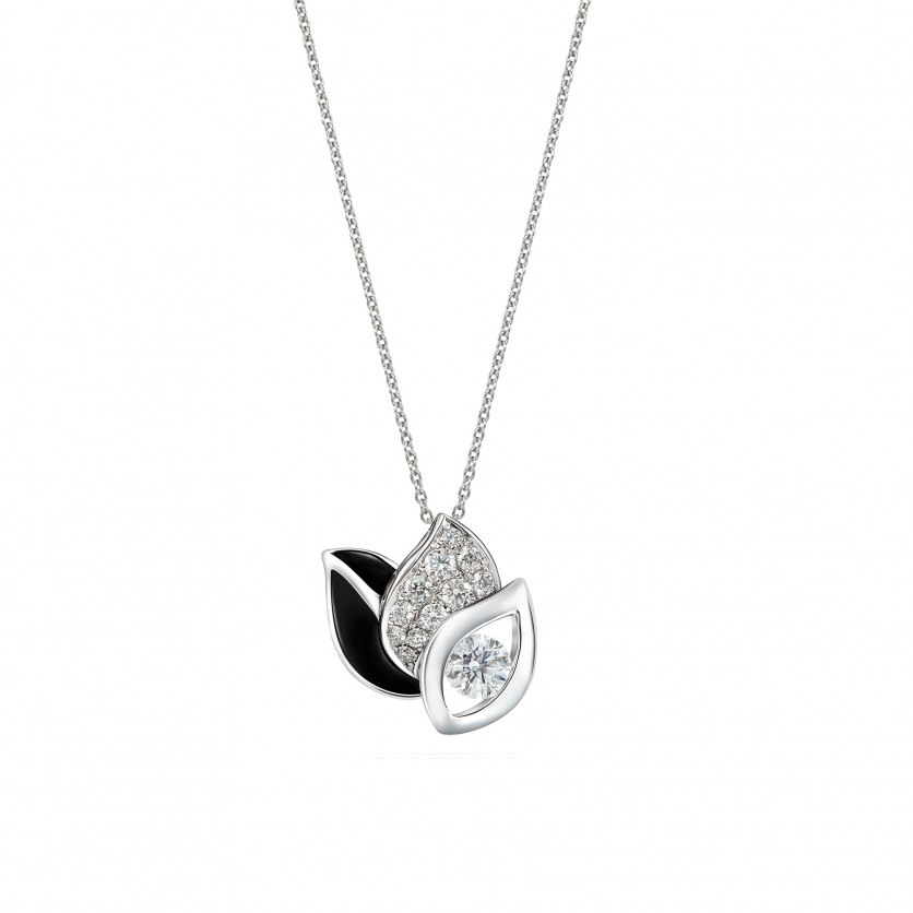 Iris Diamond Pendant Necklace
