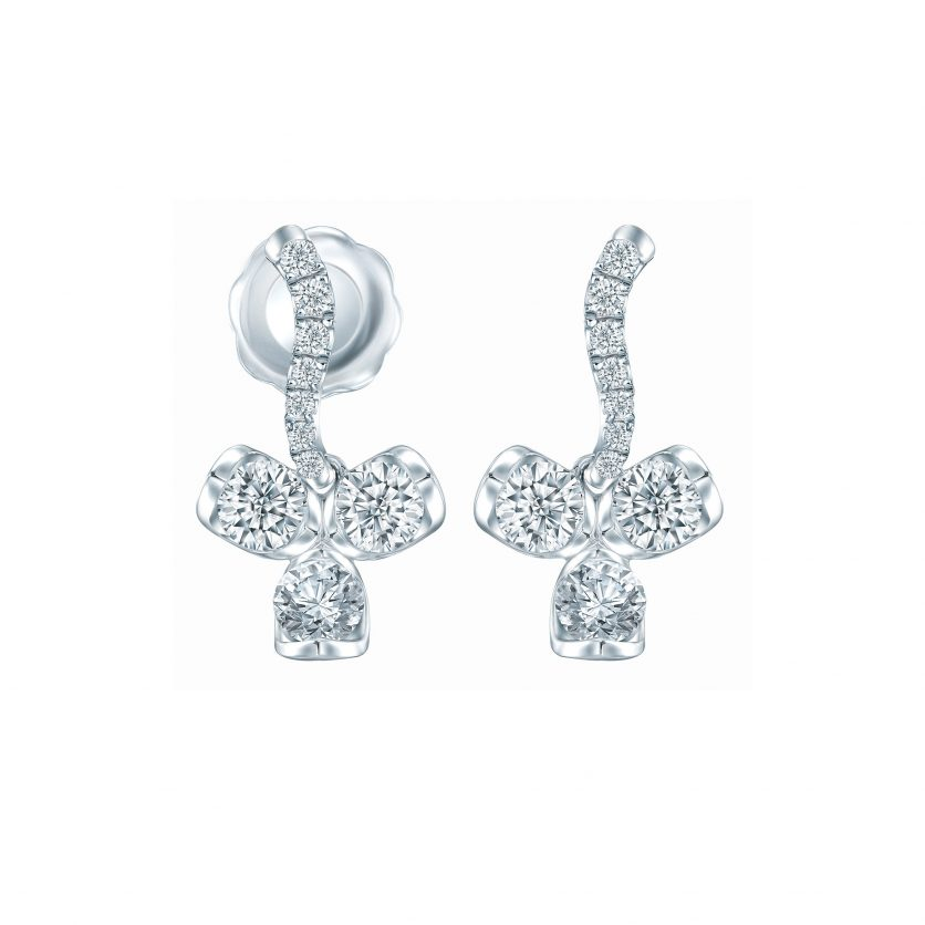 LAZARE® Love Loop Trio Diamond Earrings
