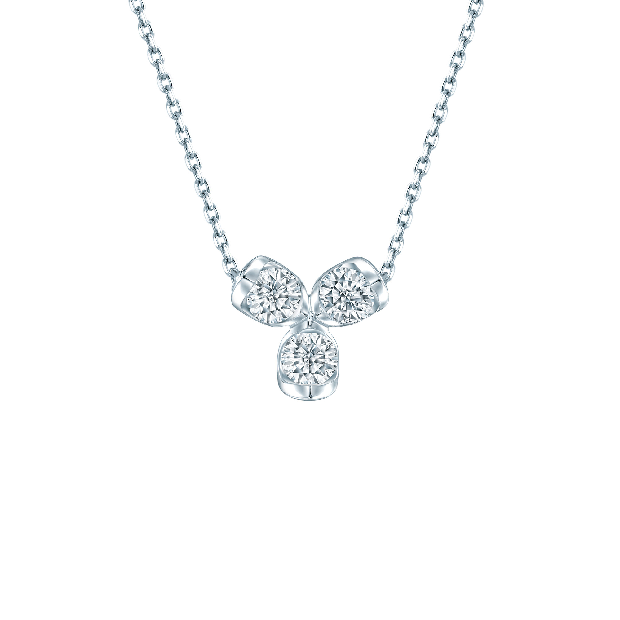 LAZARE® Love Loop Trio Diamond Necklace