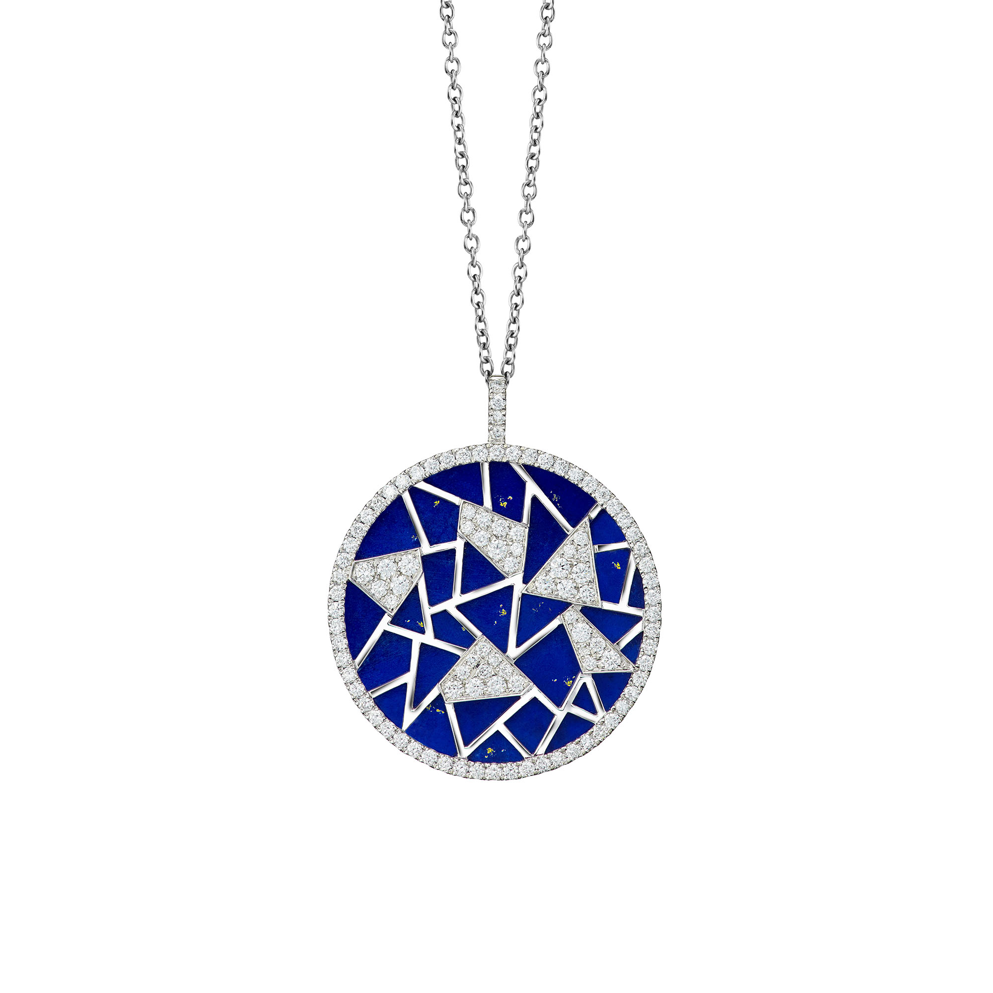 Oriental Lattice Pendant Necklace