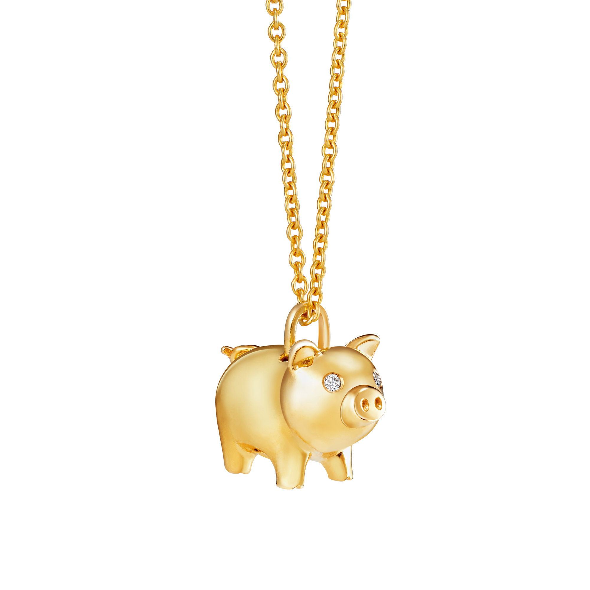 Lucky Piggy Diamond Pendant