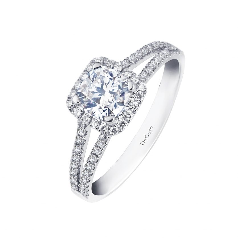 Cushion Shape Forevermark Diamond Ring