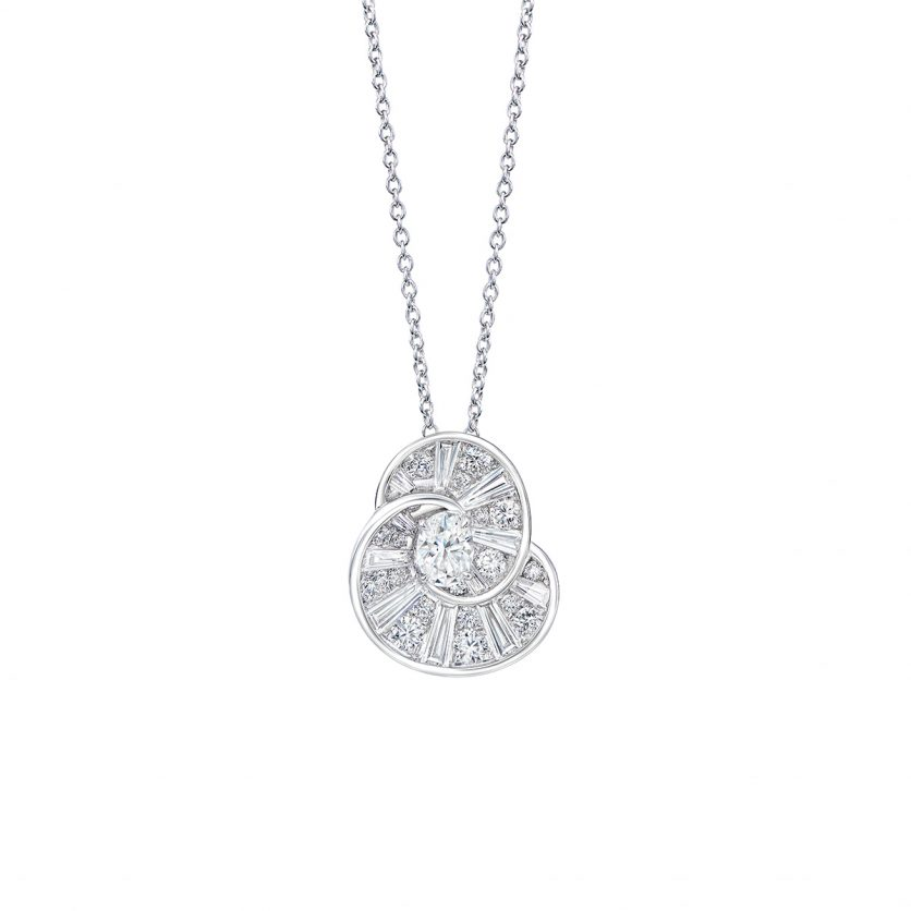 DeGem Rail Diamond Necklace