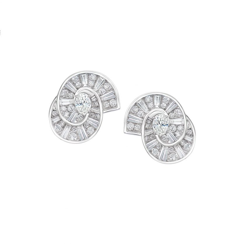 DeGem Rail Diamond Earring