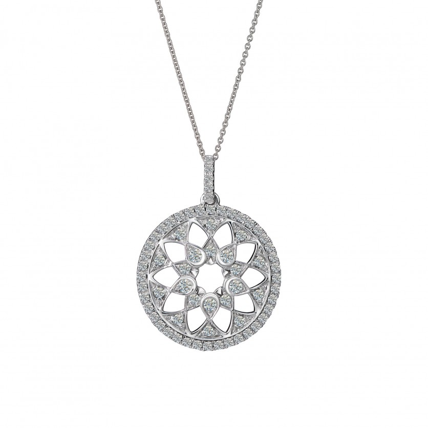 Starlight Diamond Pendant Necklace