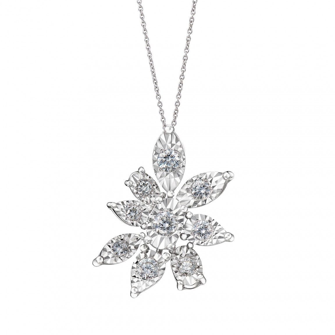 The Lotus Diamond Necklace