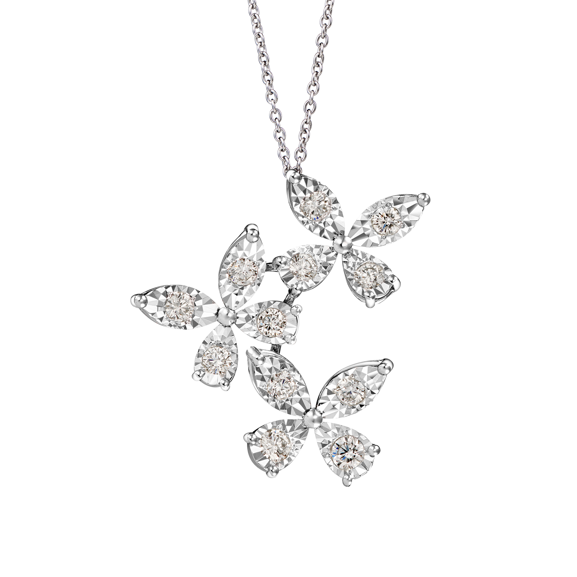 Flutter Diamond Necklace
