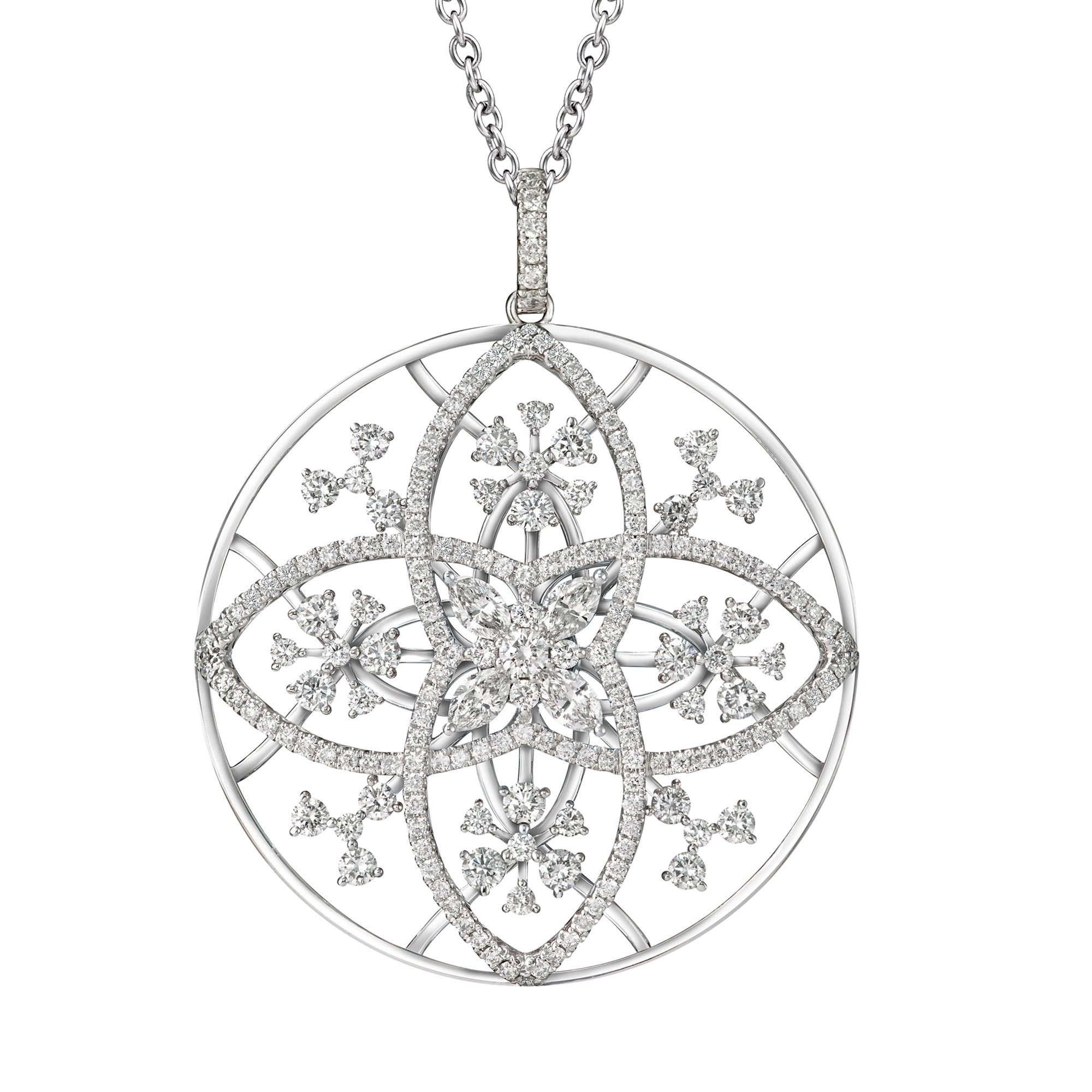The Pinwheels Diamond Necklace