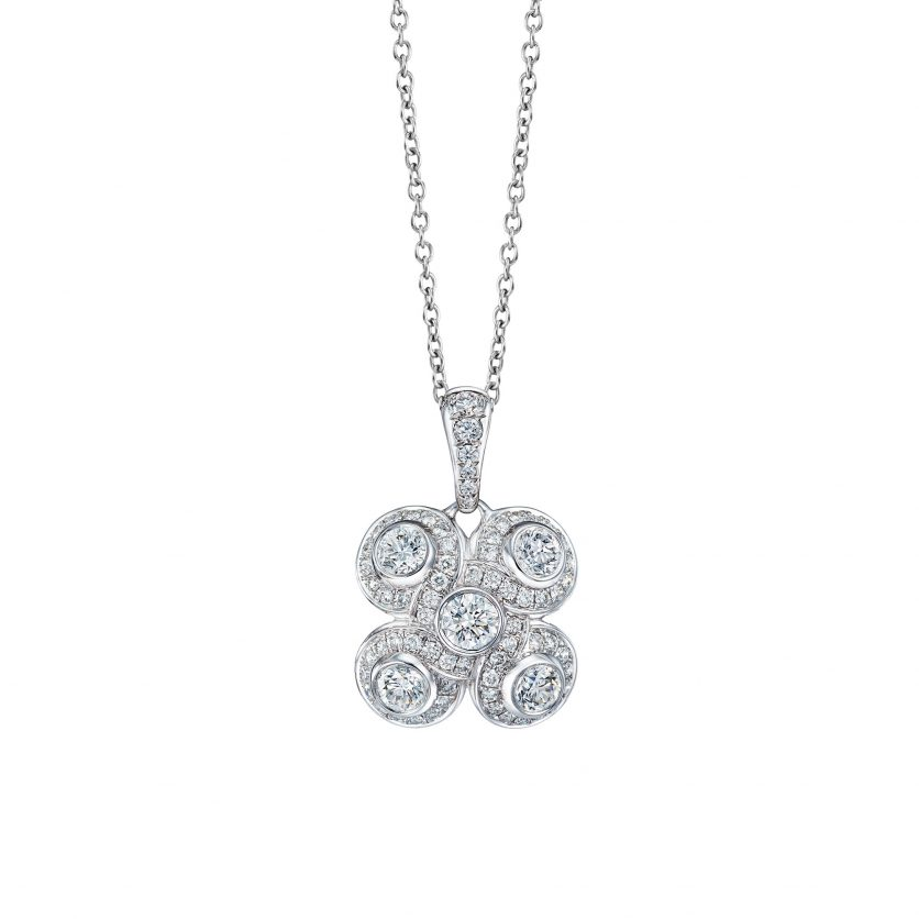 Venetian Knot Diamond Necklace