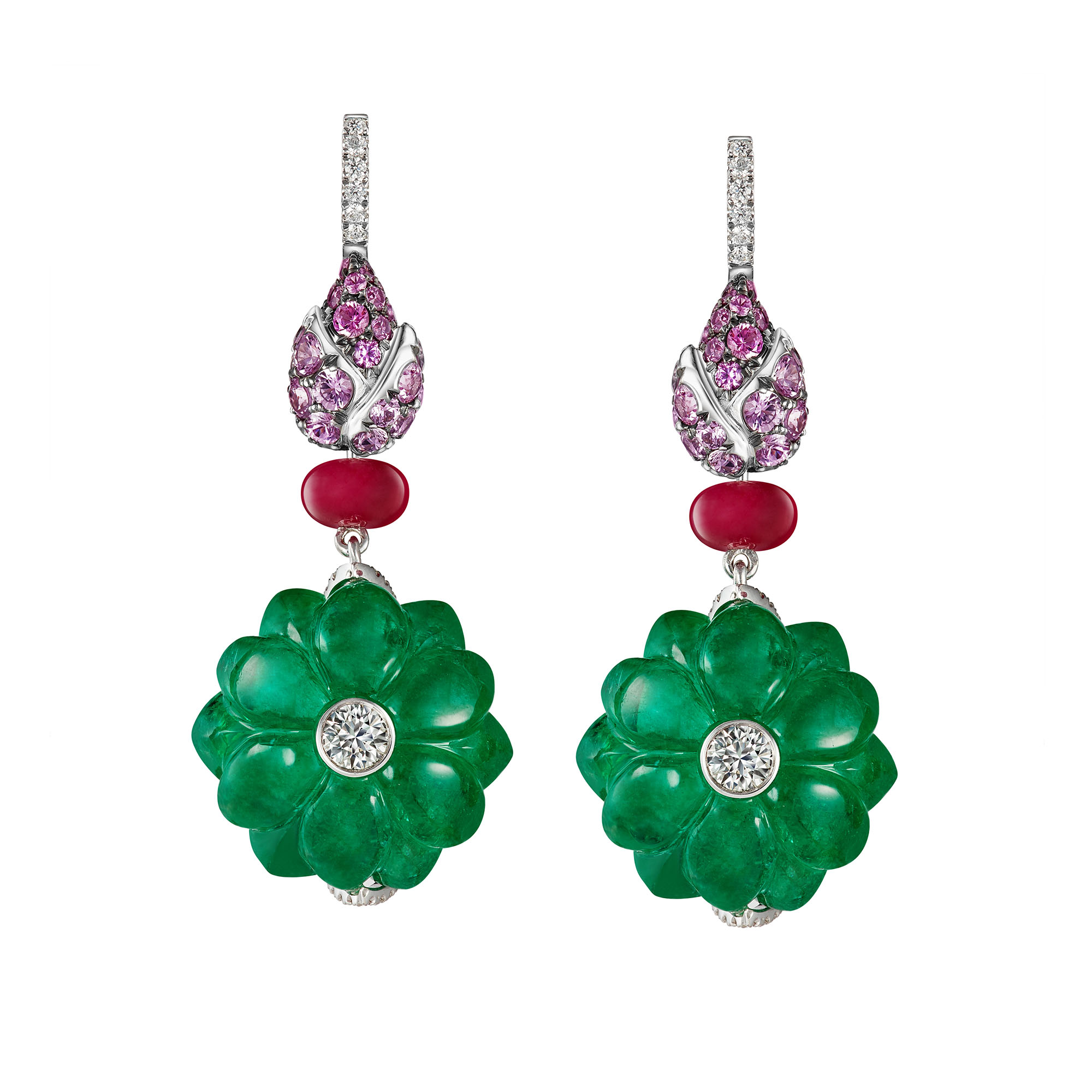 Blooming Emerald Earrings