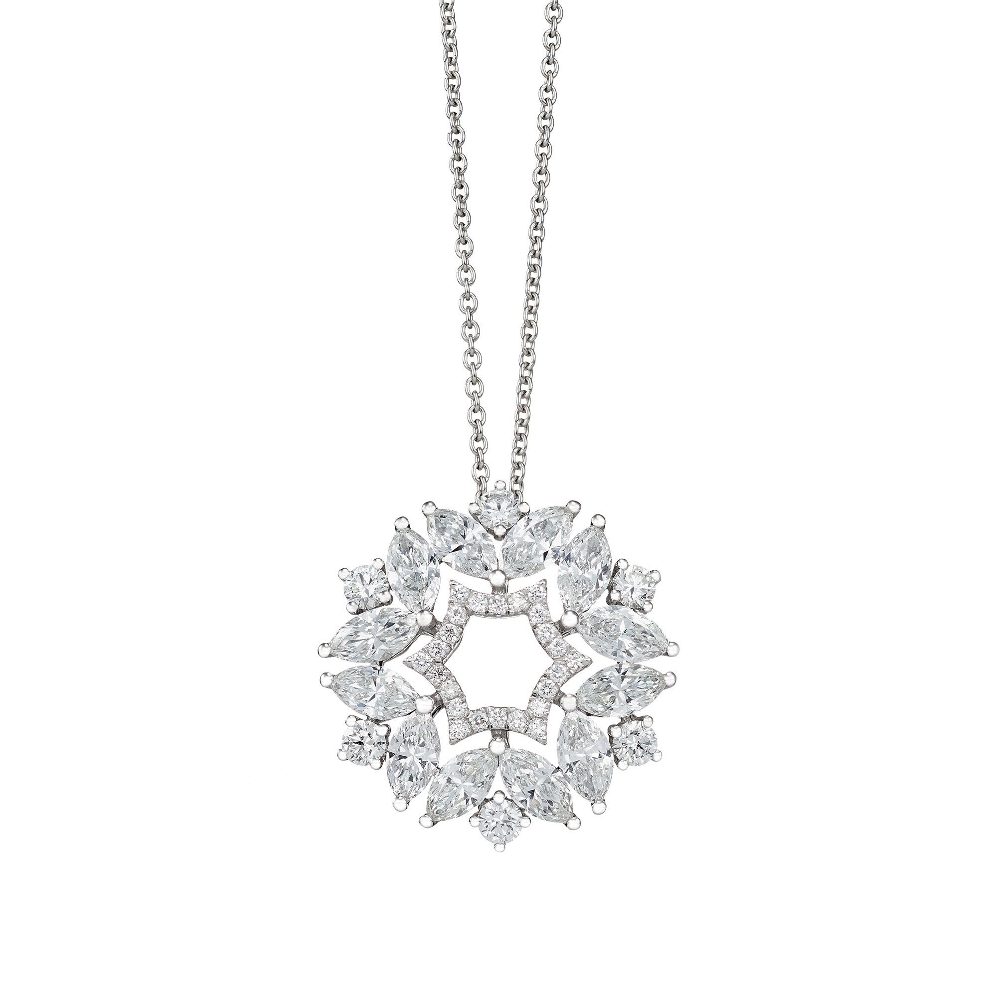 'Let It Snow' Diamond Pendant