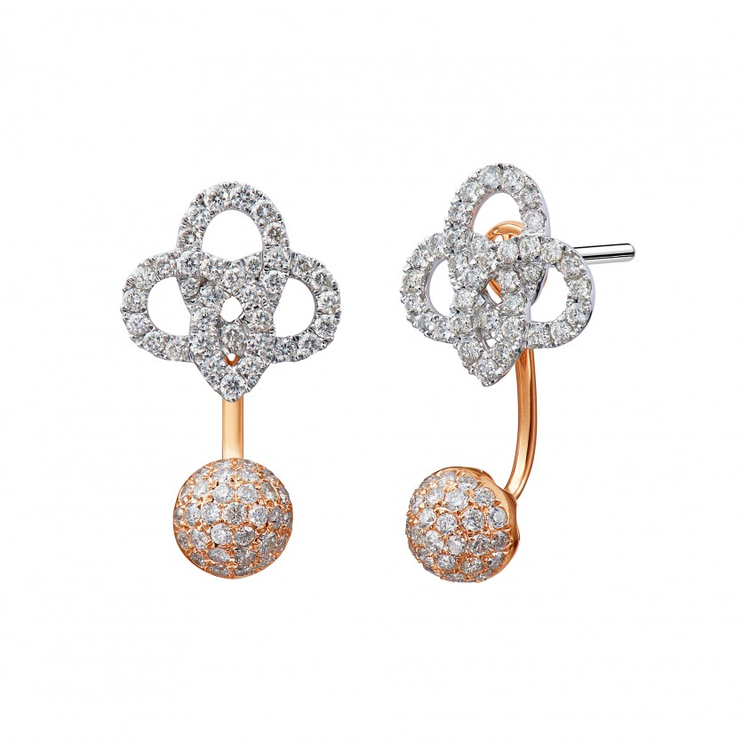 Soleluna YÒU Lucky Knot Diamond Earrings