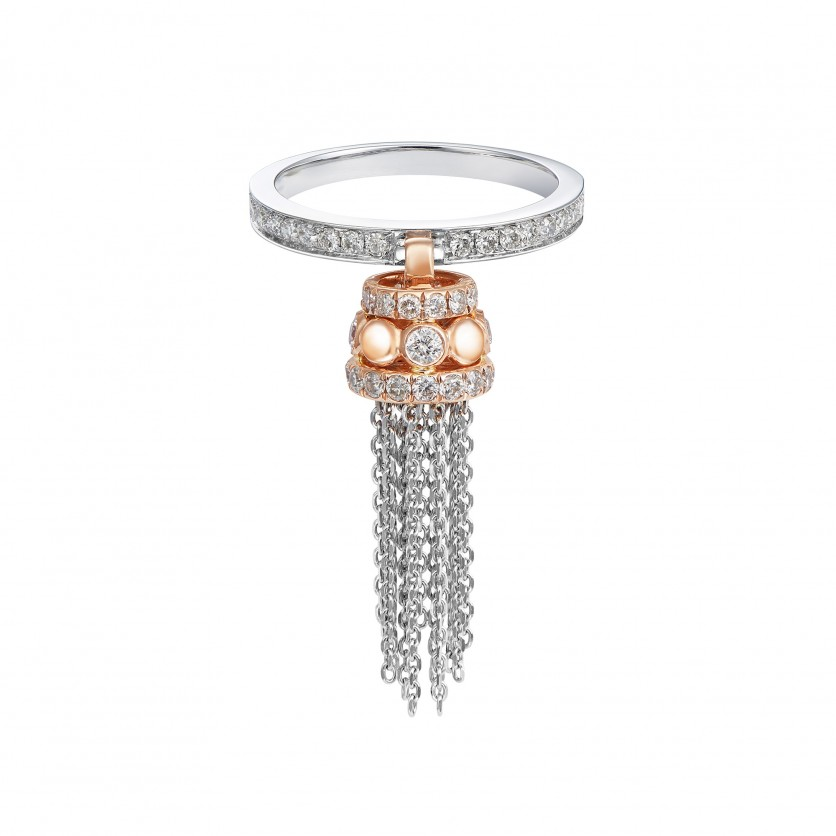 Chic Tassel Diamond Ring