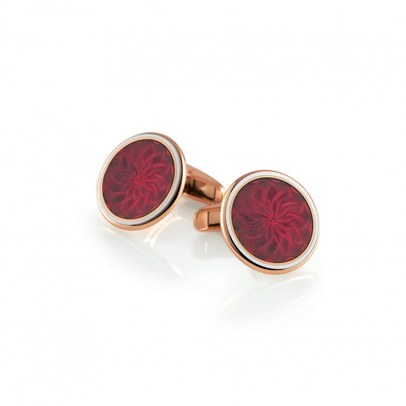 Victor Mayer Aubergine Red Cufflinks