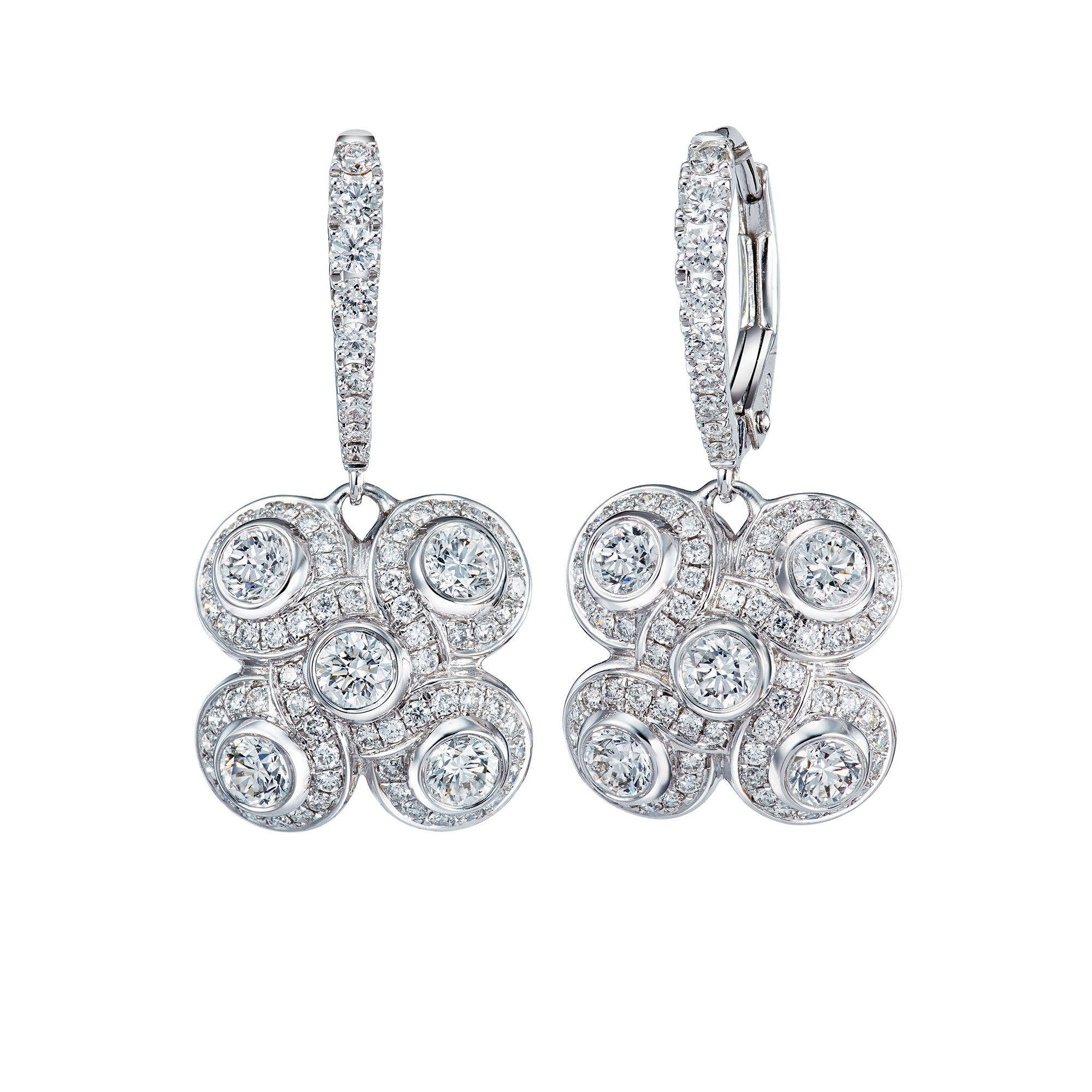 Venetian Knot Diamond Earrings