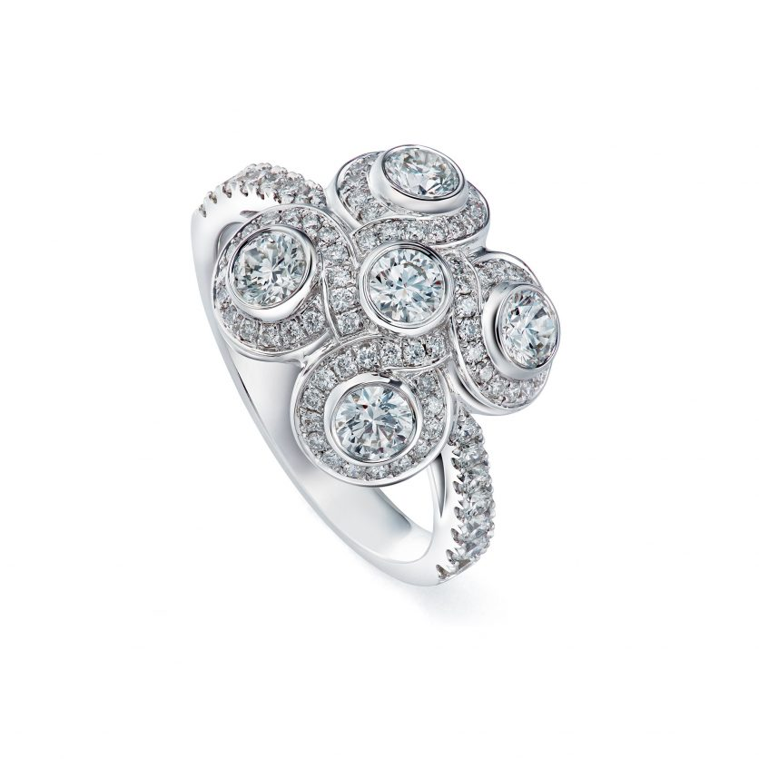 Venetian Knot Diamond Ring