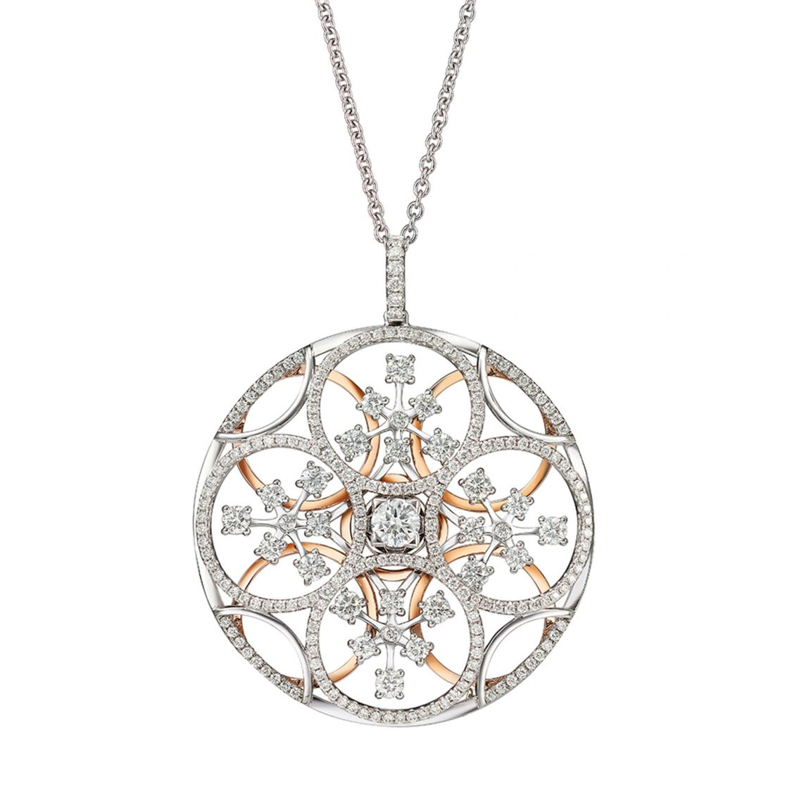The Pinwheels Diamond Pendant Necklace
