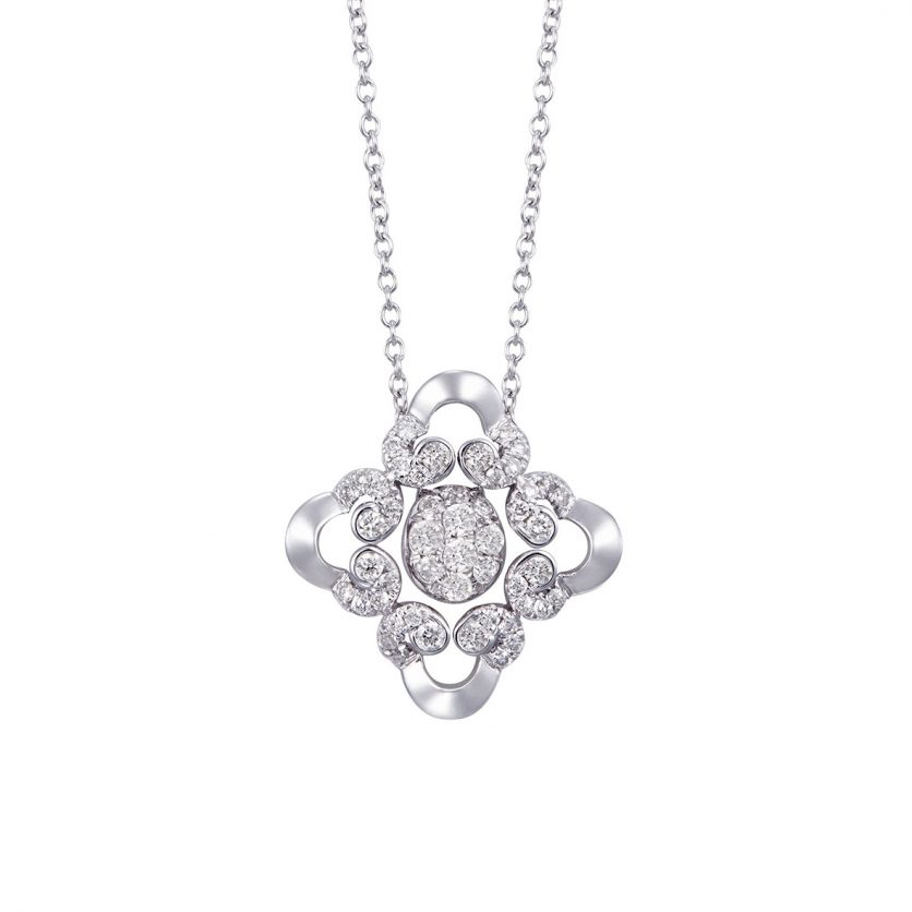 Soleluna AGLAIA Opulent Lace Diamond Necklace