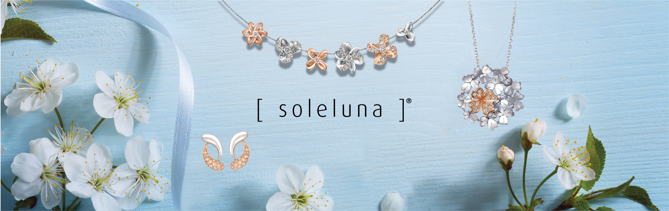 Soleluna AJYLE Dancing Wave Amethyst Diamond Necklace